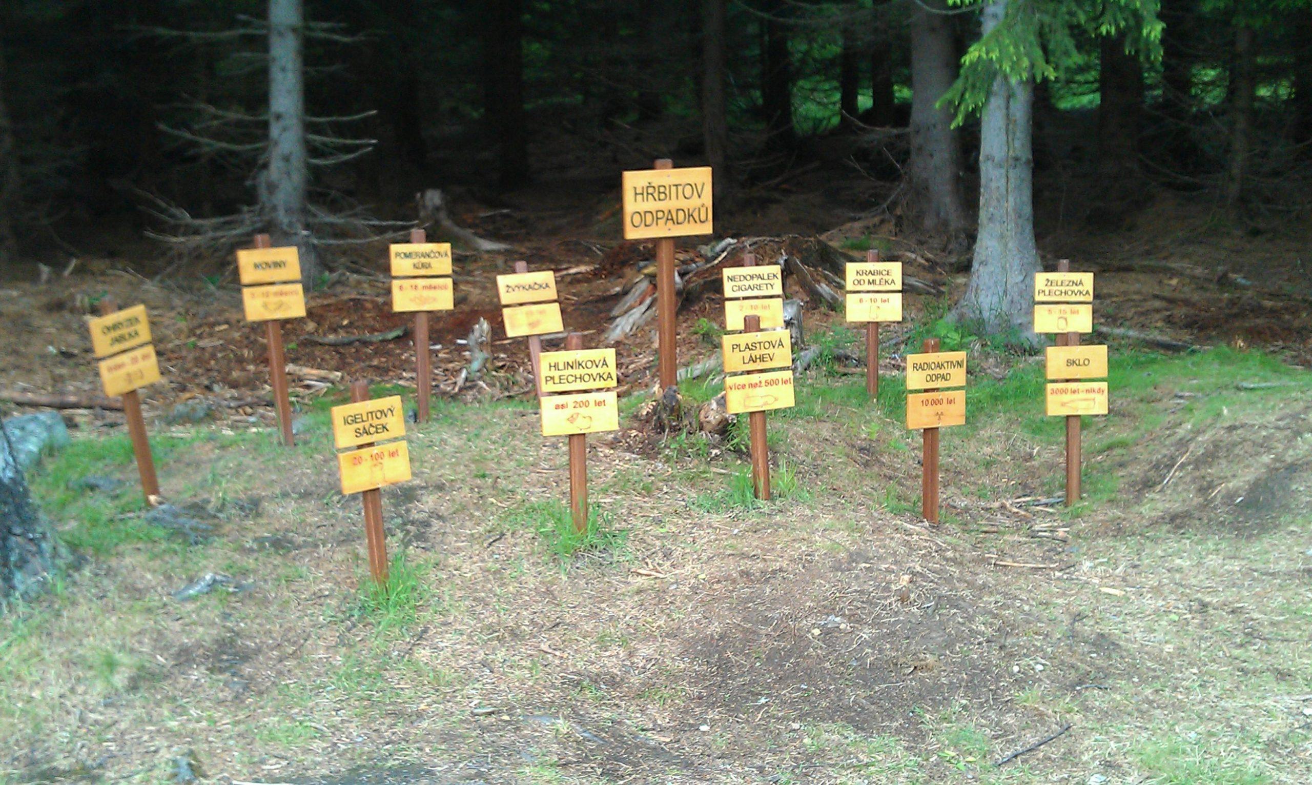hrbitov odpadku